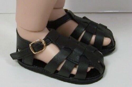 "Debs BLACK Fisherman Sandals Doll Shoes Fits 23/"" My Twinn Poseable"