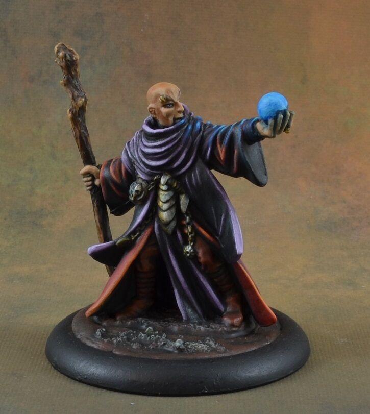Målad Lamann, Sorcerer från Reaper miniatyrs, trollkarl, magiker, D &D -karaktär