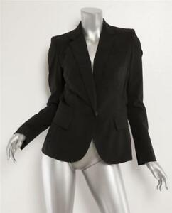 6 Fitted Crystal New 42 Structure Black Jacket Blazer Kaufmanfranco Womens lined IESn8