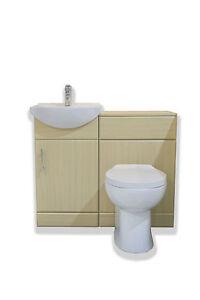 Image Is Loading Beech Bathroom Furniture Vanity Unit 450 Basin 600