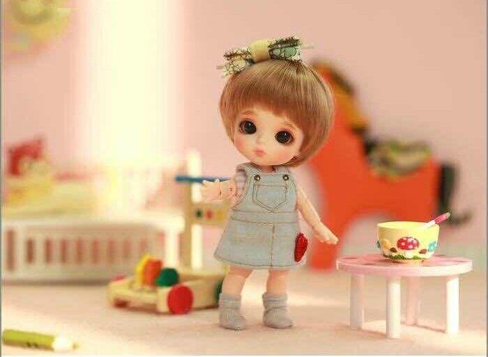 1 12 BJD Weiß doll Berry TINY CUTE DOLL BJD MUÑECA NO MAKE UP WITH EYES