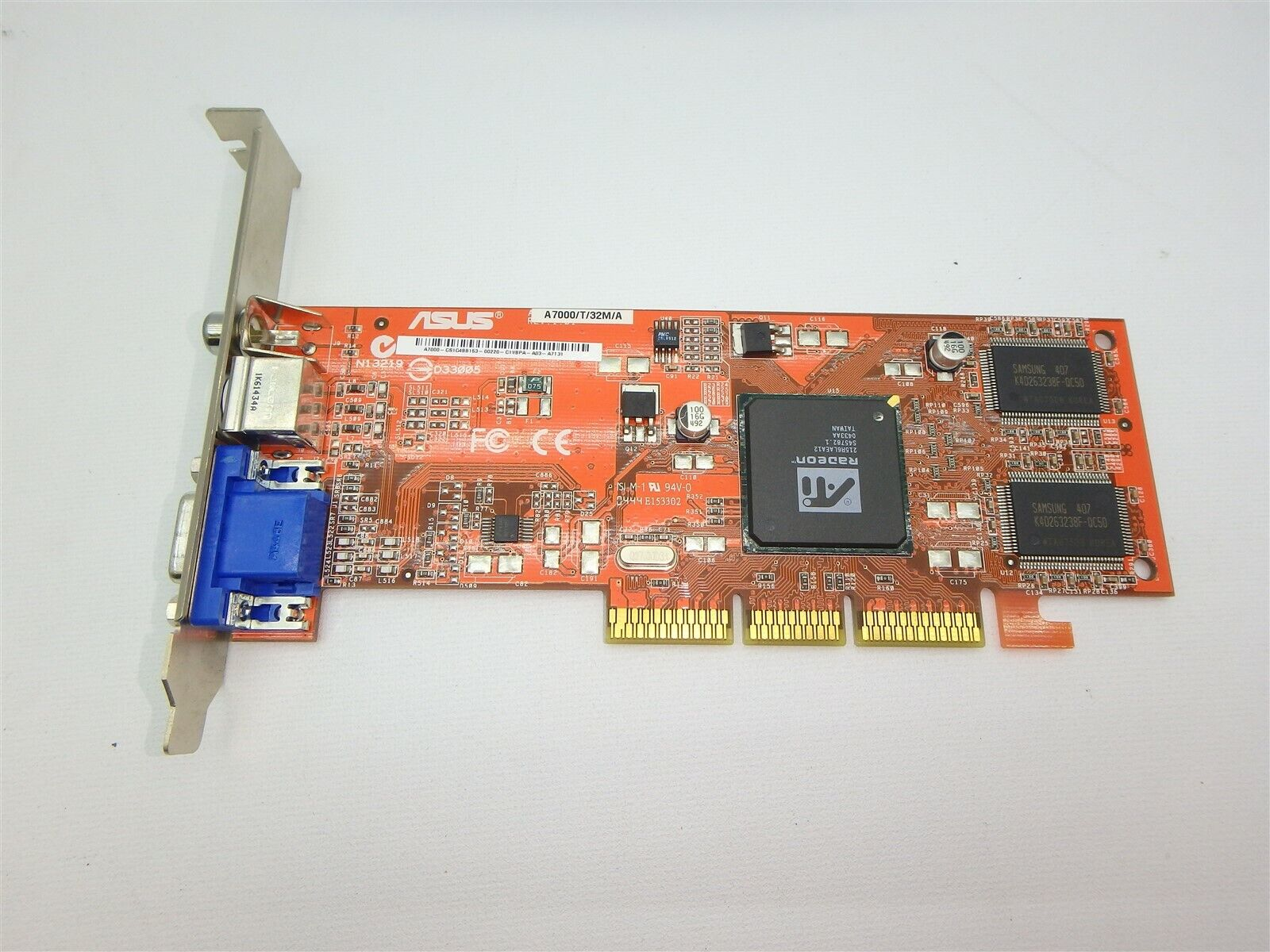 Lot of 15 Asus ATI Radeon A7000/T/32M/A 32MB AGP Graphics card