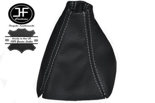 White Stitch Manuel CUIR GEAR GAITER Gear boot FITS FORD GALAXY MK3 06-10