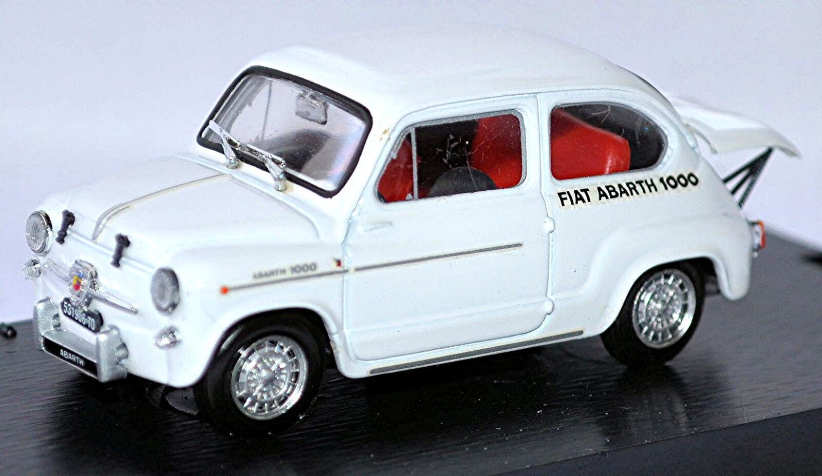 Fiat Abarth 1000 Berlina Radiatore MonteCochelo 1963 blancoo blancoo 1 43 Brumm