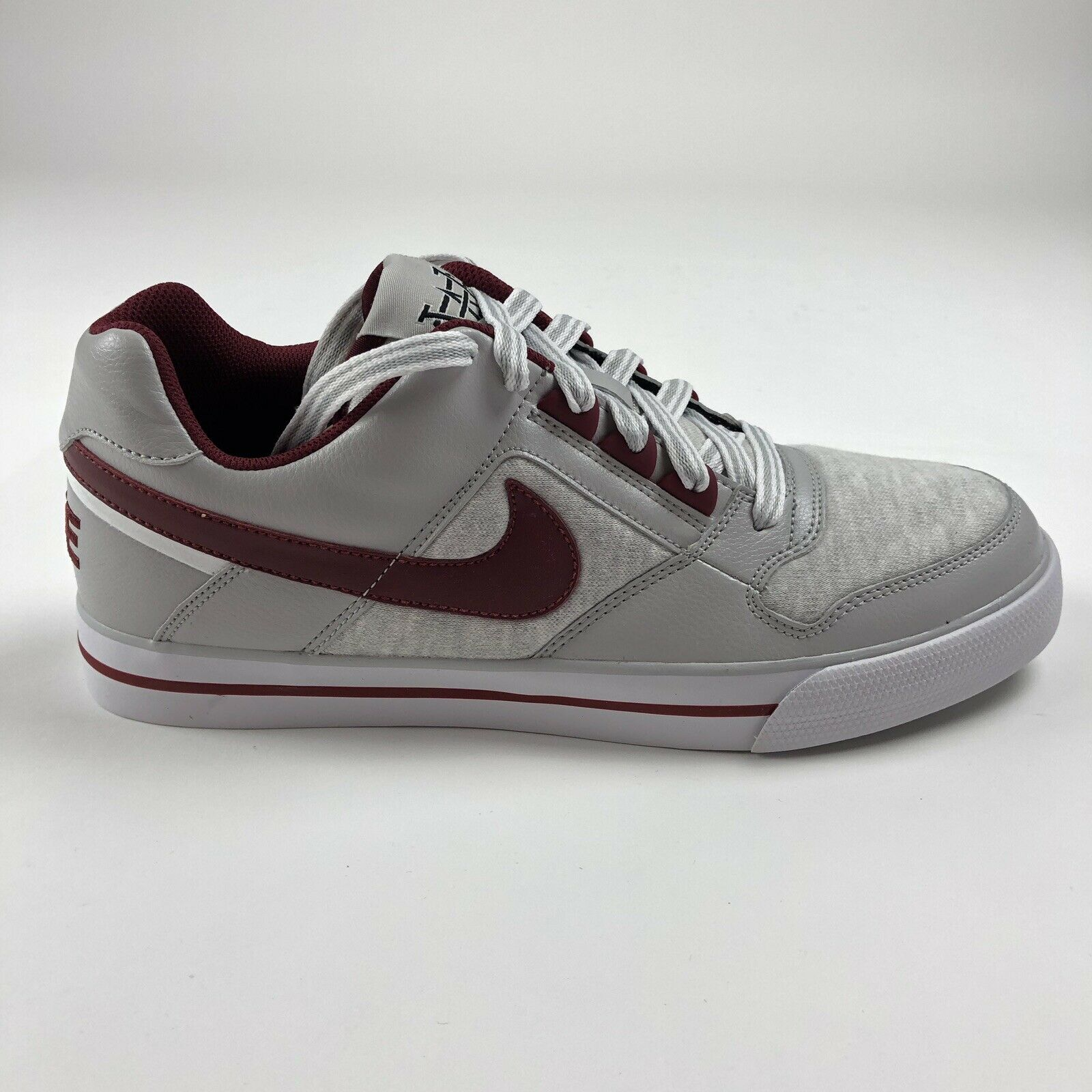 Nike Delta Force AC Sz 10.5 Low Top shoes White Team Red Neutral Grey 370543-101