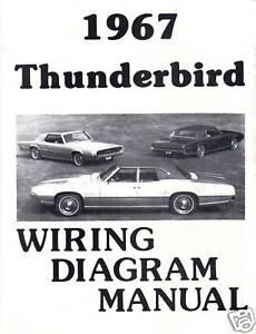 1967 FORD THUNDERBIRD WIRING DIAGRAM MANUAL | eBay
