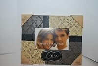View Metal Scroll Picture Frame Love Script Holds 6 X 4 Black Gold Gray