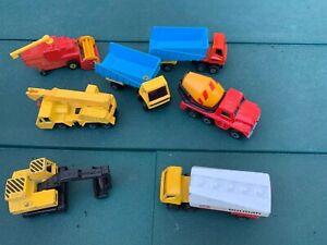 VINTAGE-MATCHBOX-LESNEY-MODEL-SUPERFAST-Truck-TANKER-Crane-Digger-Lorry-Bundle