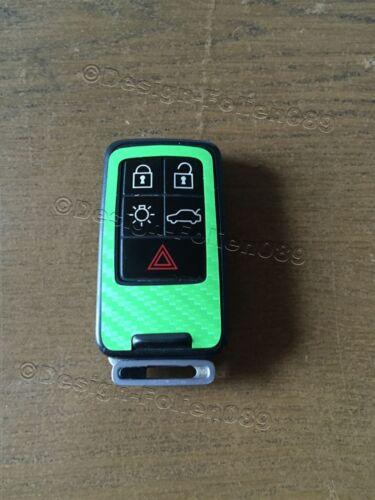 Carbon Grün Folie Dekor Cover Schlüssel Volvo D5 S80 XC60 XC70 V70 5 Tasten