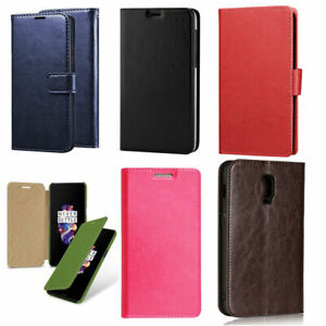 For OnePlus 2 5 5T 6  Executive Leather Wallet Flip Stand Case Cover Protector