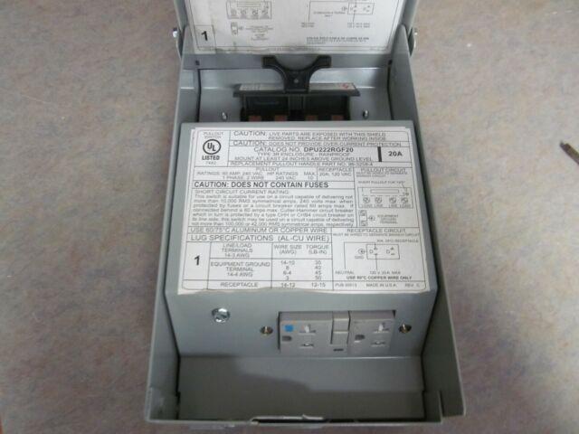 Eaton Dpu222rgf20 60 Amp 240v 1ph Outdoor Air Conditioning