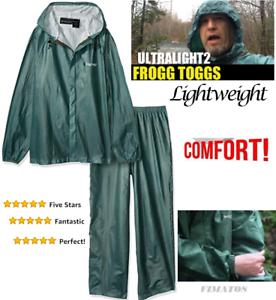 Vert Frogg Toggs Homme manches raglan Imperméable Ultra-Lite 2 Costume XLarge