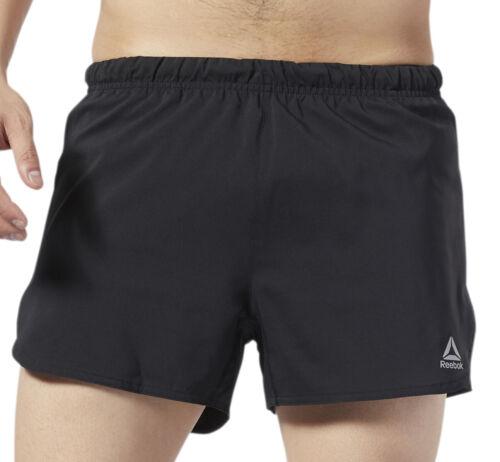 environ 7.62 cm Reebok Essential 3 in Hommes Shorts De Course-Noir