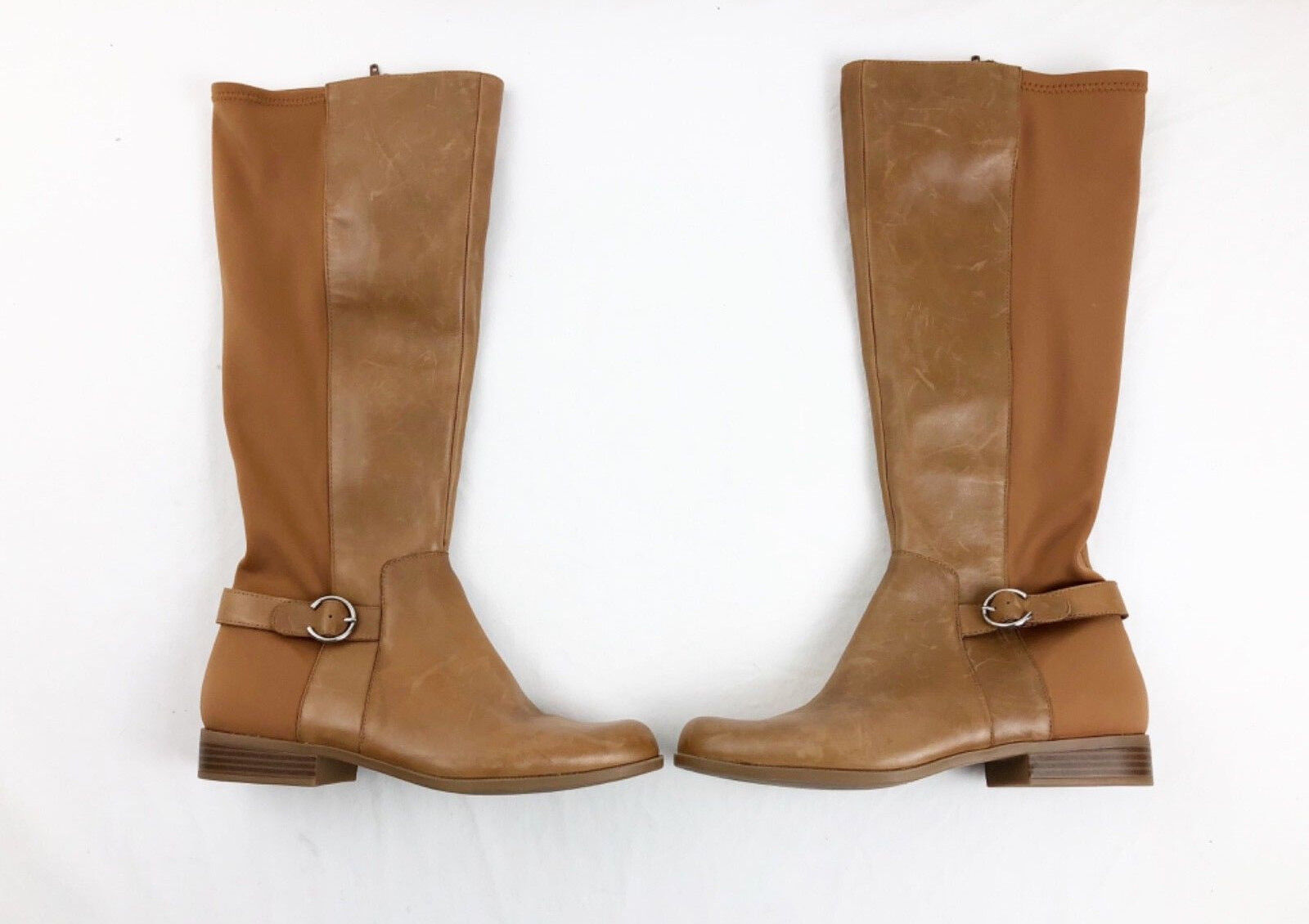 Nine West Stiefel 9.5 Tan Leather Riding