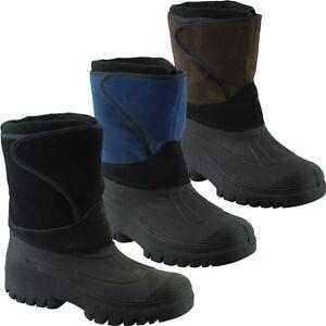 Snow-Warm-Grip-Mucker-Boots-Winter-Thermal-Welly-Wellington-Shoes-Waterproof