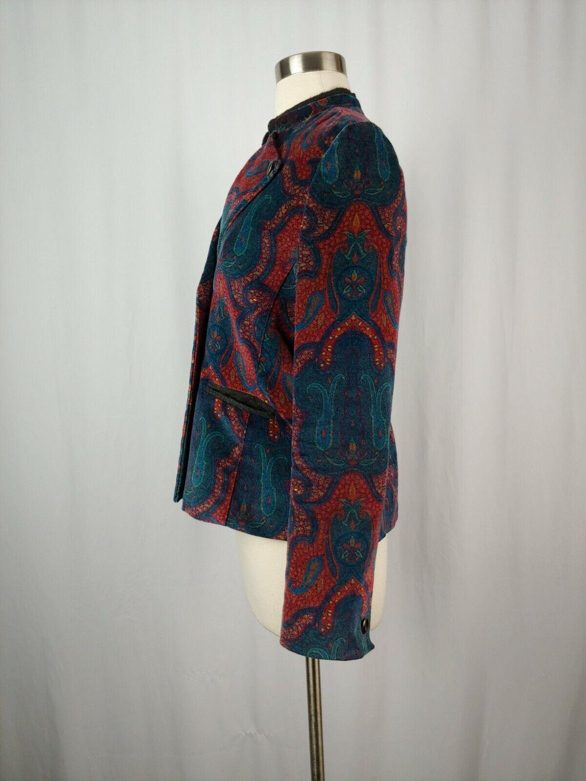 Robert Graham Women's 6 Red Print Velvet Blazer  - image 4