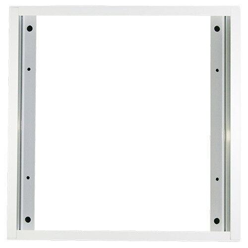 Einbaurahmen PF62 Rahmen für LED-Panel weiß 62x62cm quadratisch Aufbaurahmen