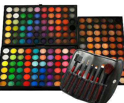Pro 180 Full Colors Eye Shadow Palette Eyeshadow w/7pcs Makeup Brushes Set L372