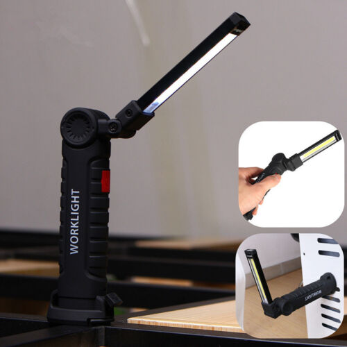 3W Multifunction USB Rechargeable COB LED Work Light Flashlight Magnetic Torch