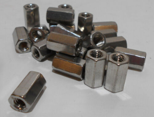 Lot Of 20  M6-1.0 Stainless Steel Hex Nut Thread Standoff Spacers