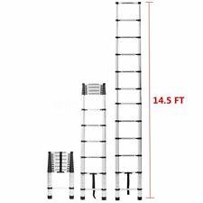 145ft Step Ladder Extension Telescoping Lightweight Portable Telescopic Us