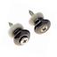 2pcs Mushrooms Head Guitar Strap Buttons Locks Chrome Parts
