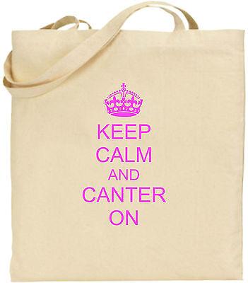 Keep Calm And Canter On Groß Baumwolltasche Einkaufstasche Geschenk Weihnachten