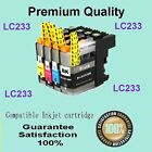 12 Compatible Latest LC233 LC-233 Brother DCPJ4120DW Ink Cartridge W/NewChip