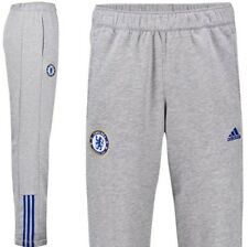 Adidas Chelsea Core 3 Stripe Training Pants Grey Blue Size Men's Medium M