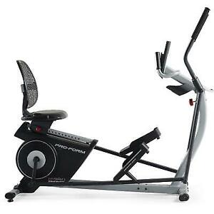Proform Hybrid Trainer Elliptical And Rebent Bike Pfel03815