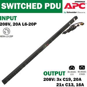 APC-AP8959NA3-Rack-PDU-2G-Switched-ZeroU-20A-208V-L6-20P-21xC13-3xC19