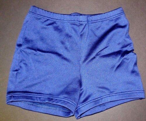NWOT Dance Cheer Spandex Booty Shorts Navy Child//Ladies Sports Boycut Trunks