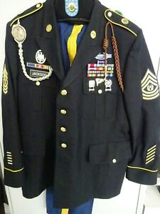 Uniform-XXL-Blue-Dress-Top-mit-Orden-Com-Sergeant-Major-14th-Military-Police-B