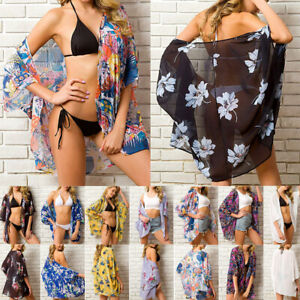 Women-039-s-Floral-Shawl-Vintage-Cover-Up-Kimono-Cardigan-Chiffon-Coat-Jacket-Blouse