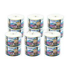 600 Pack Philips Blank 16x White Inkjet Hub Printable DVD-R Disc Wholesale Bulk