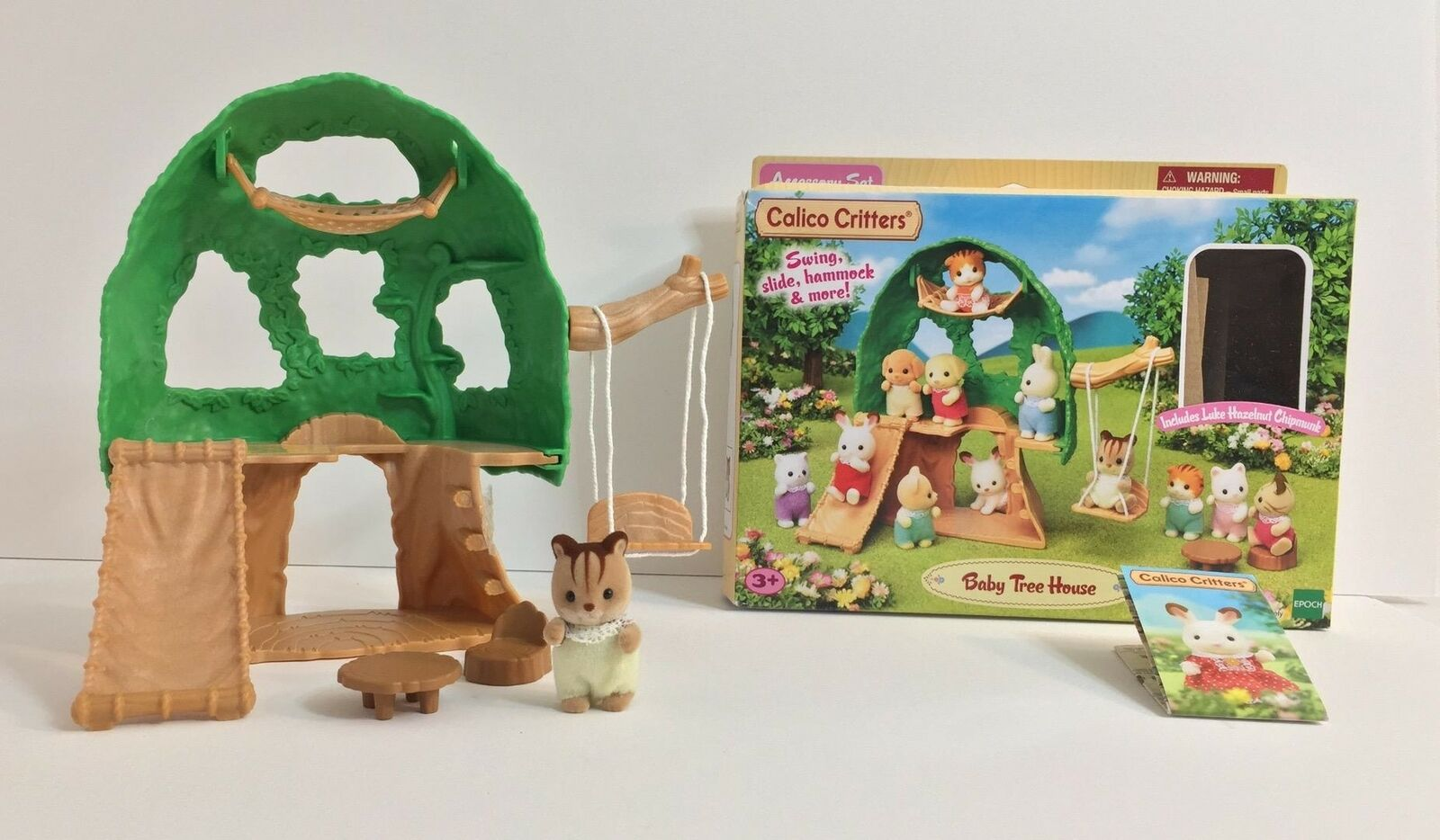 Picture of: Calico Critters Baby Tree House Cc1791 Hammock Slide Swing For Sale Online Ebay