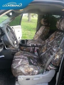 Coverking Seat Covers >> Coverking Neosupreme Realtree Xtra Camo Front Seat Covers for Chevy Silverado | eBay