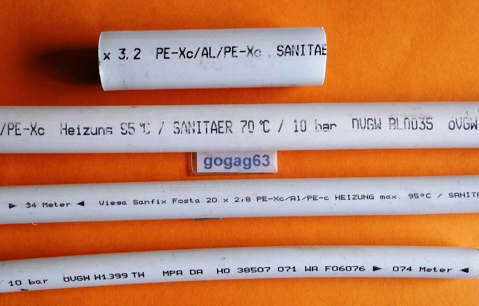 Viega Sanfix Fosta PE-Xc/Al/PE-Xc 5,0m Rohr Stange   2103  Ø40