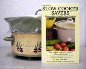 Regency Slow Cooker Crock Pot Liners 8 Bags Fits All