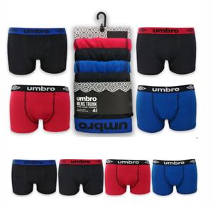 4er Pack UMBRO Boxershorts Herren Unterwäsche Farben Baumwolle Trunks Boxer 517