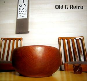 Image Is Loading Vintage Salad Bowl Large Wooden Danish Style Teak