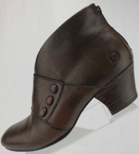 Born-Ankle-Boots-Jessen-Back-Zip-Brown-Full-Fashion-Leather-Booties-Womens-7-M