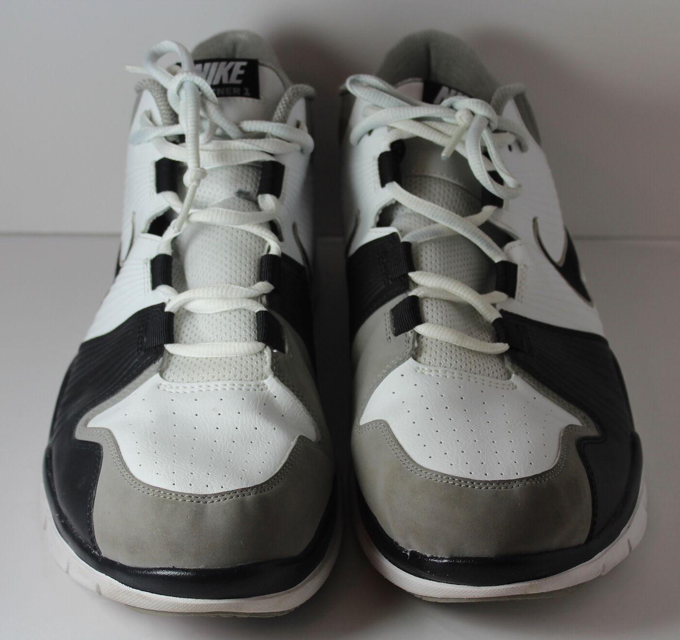 Nike trainer 1 2009 männer größe 14 grau weiße weiße weiße schwarze schuhe 129c0e