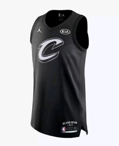 newest 7ad27 c0f00 Details about Nike Air Jordan LeBron James Authentic All Star Jersey Size  58 3XL 928867 010