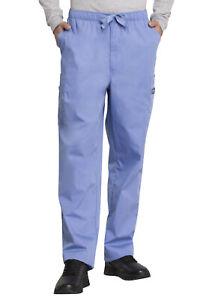 ee8e8e2bab1 Image is loading Ciel-Blue-Cherokee-Scrubs-Workwear-Mens-Drawstring-Cargo-
