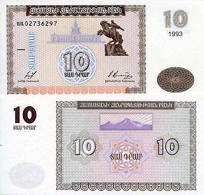 Armenia 1000 1,000 Dram banknote 2015 Lot 10 PCS P-55 NEW UNC