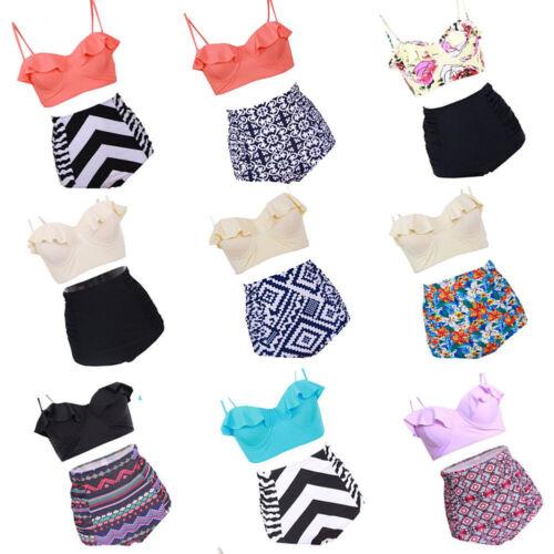 Plus Size Women Bikini Sets Dress Bathing Suit Tankini Swimsuit Swimwear Dress