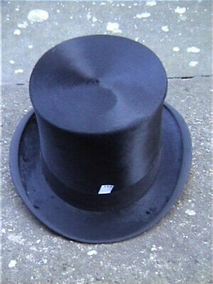 Battersby & Co London Nero Silk Top Hat Sz 7 1/8.-mostra Il Titolo Originale Acquista Sempre Bene