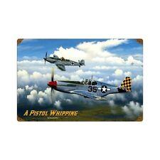 Arthur Fiedler Jr. P-51 Mustang Bf 109 Flugzeug Retro Sign Blechschild Schild