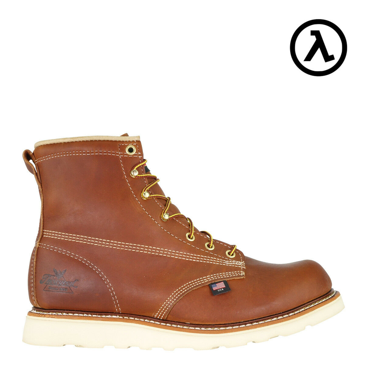 THgoldGOOD AMERICAN HERITAGE WEDGE EH 6  WORK BOOTS 814-4355 - ALL SIZES